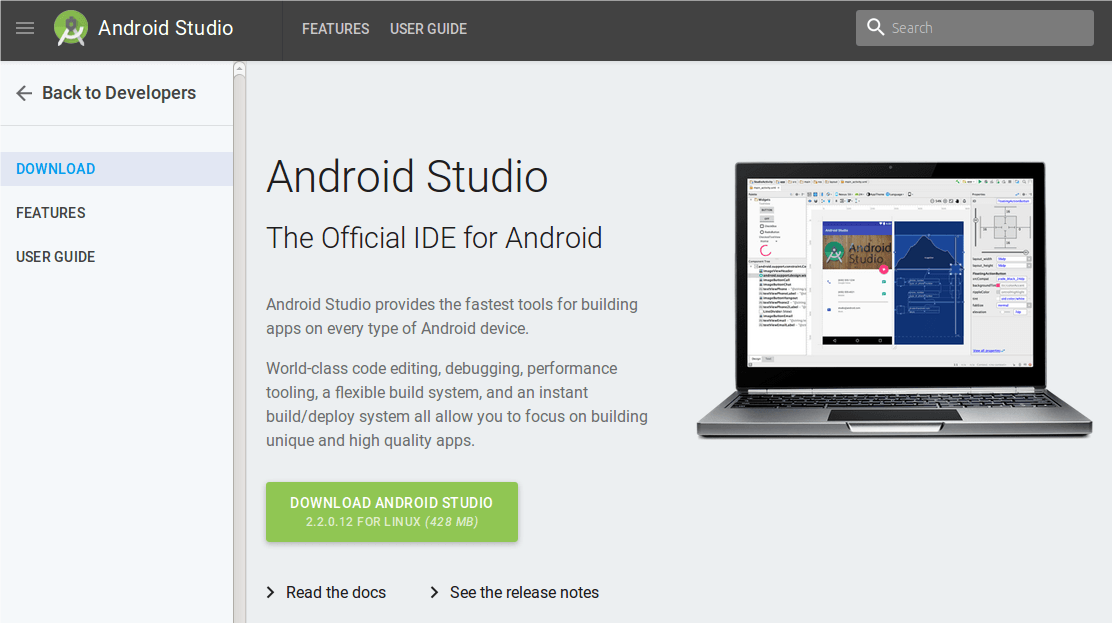 start android application